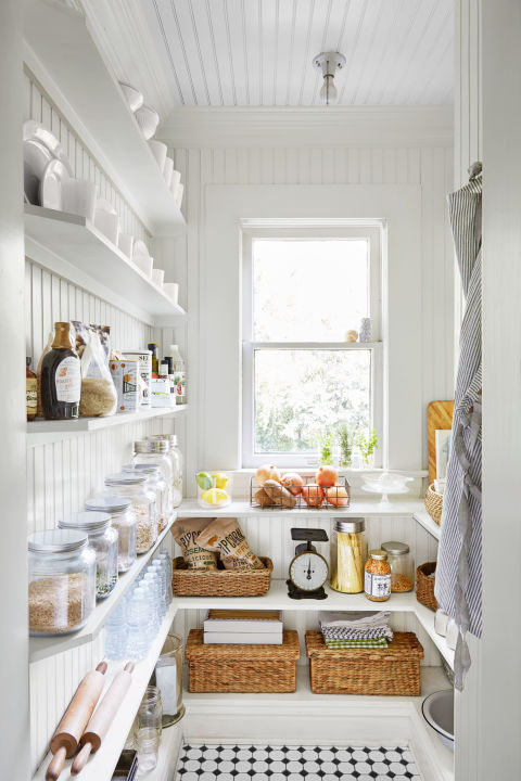 Sprucing up the pantry gives a psychological lift.