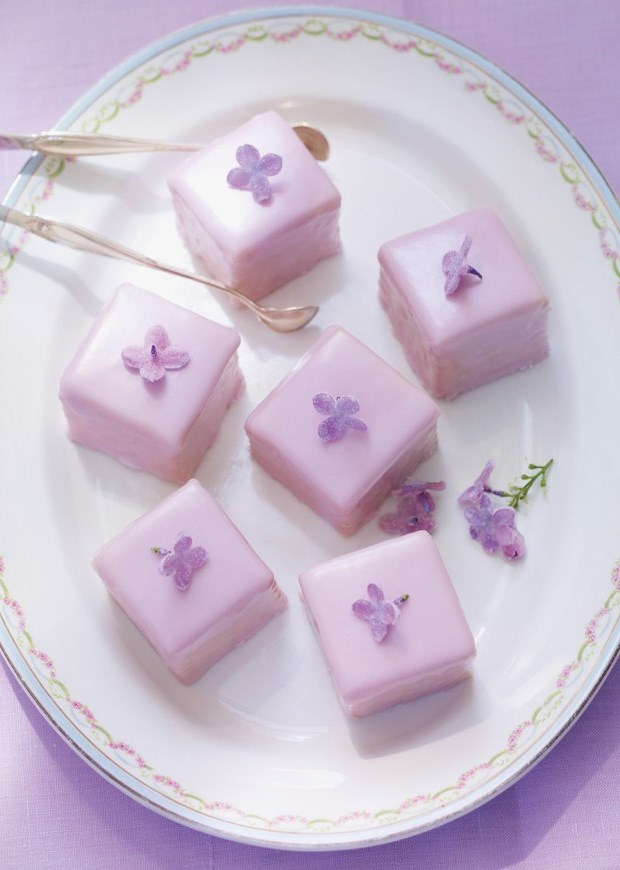 Crystallized Lilac Petits Fours