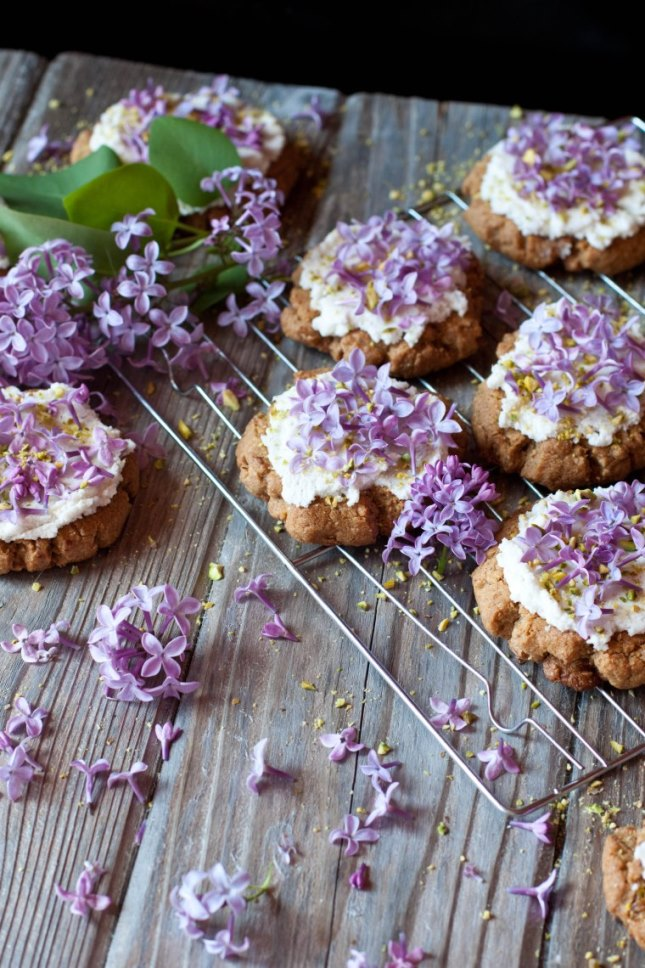 Nut Butter and Lilac Cookies