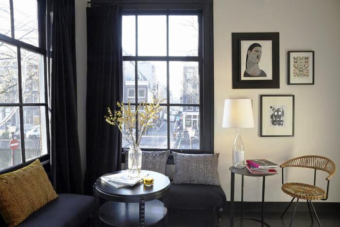 Cozy corner in the second-floor guestroom.