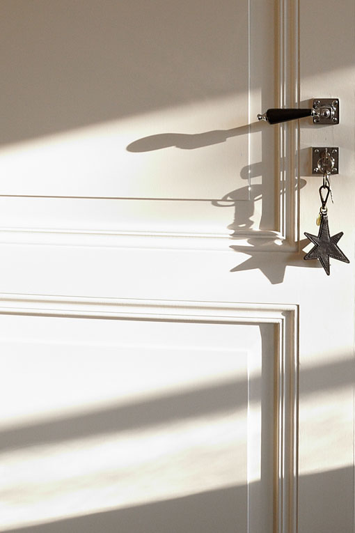 Rika's signature star hangs from a guestroom key.