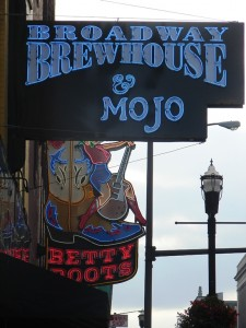 Broadway Brewhouse and Mojo Grill on Broadway, Nashville, TN.