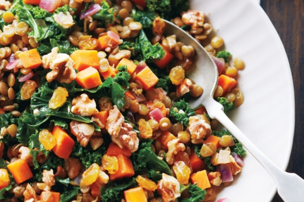 Stewed Kale and Lentils (Photo: Canadian Living)