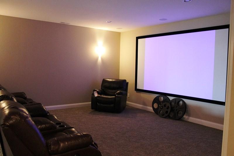 Basement theater room