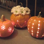 Carved with a Drill and Lit. (Photo: Crafty Nest)