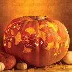 Vine and Leaf Carved Pumpkin. (Photo: Martha Stewart)