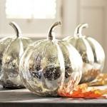 Antique Mercury Glass Pumpkins. (Photo: Pottery Barn)