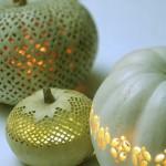 Lace-Patterned Pumpkins. (Photo: Martha Stewart)
