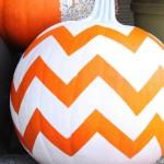 Chevron Pumpkin. (Photo: Feeling Lovesome)