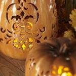 Punched Ceramic Pumpkin Luminary. (Photo: Pottery Barn)