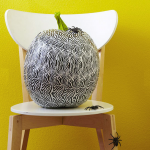 Black-and-White Tape Pumpkin. (Photo: Better Homes and Gardens)