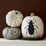 Black and White Painted Pumpkins. (Photo: Country Living)