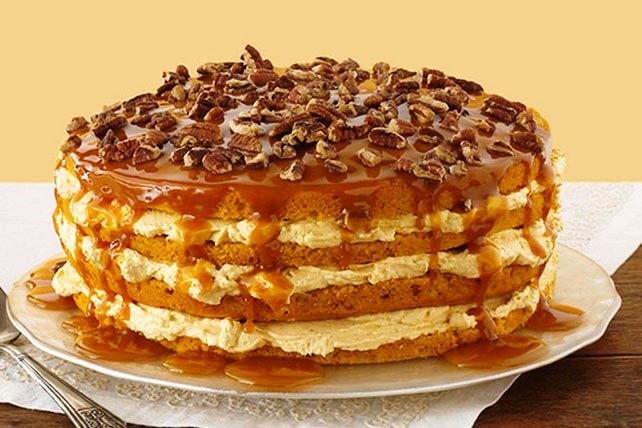 Luscious Four-Layer Pumpkin Cake (Photo: Kraft)