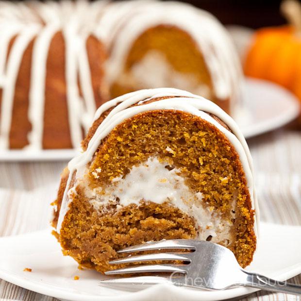 Pumpkin Cream Cheese Bundt Cake (Photo: Chew Out Loud)