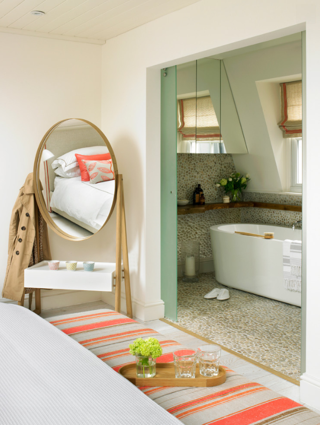 Iona Cheval mirror in the master bedroom.
