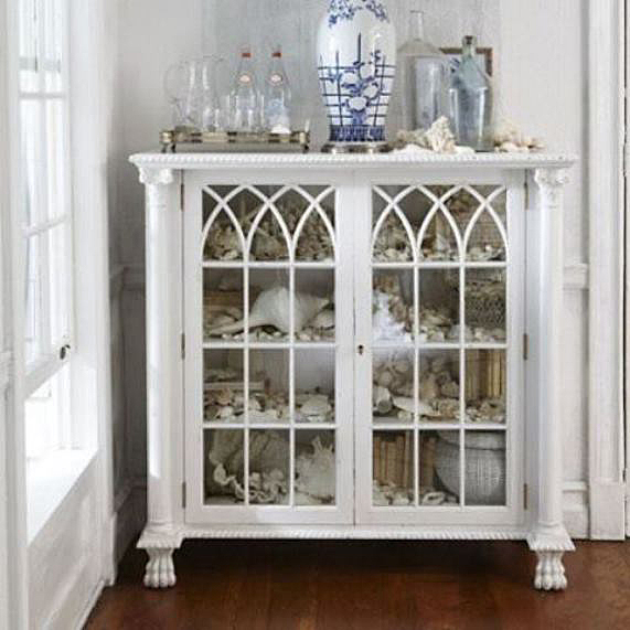 The Rosecliff bookcase is not just for books.