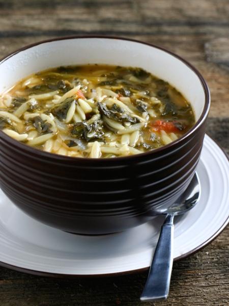 Spinach Tomato Orzo Soup (Photo: The Family Kitchen)