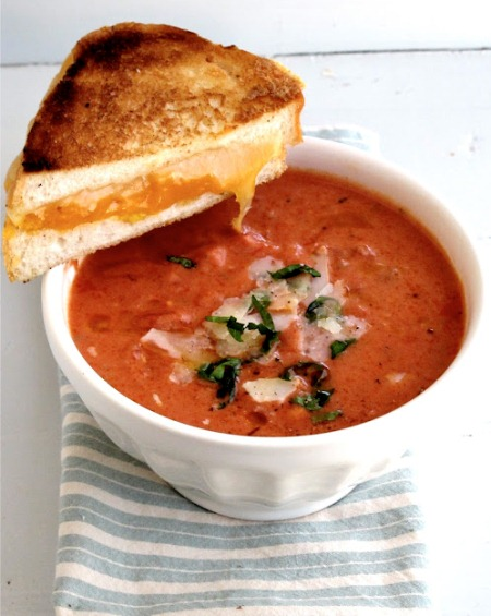 Tomato Basil Soup with the Best Grilled Cheese Sandwich (Photo: Jenny Steffens Hobick)