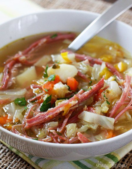 Corned Beef and Cabbage Soup (Photo: Gina's Skinny Recipes)