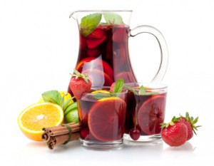 Punch and fruit
