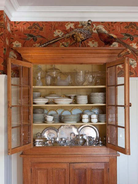 Sarah's country house china cabinet.