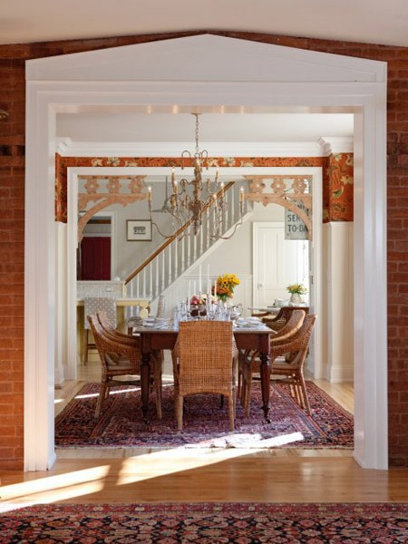 Sarah's country house dining room.