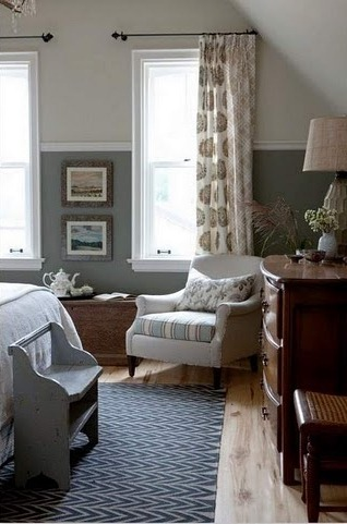 Sarah's country house guest room.