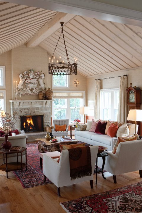 Sarah's country house living room.