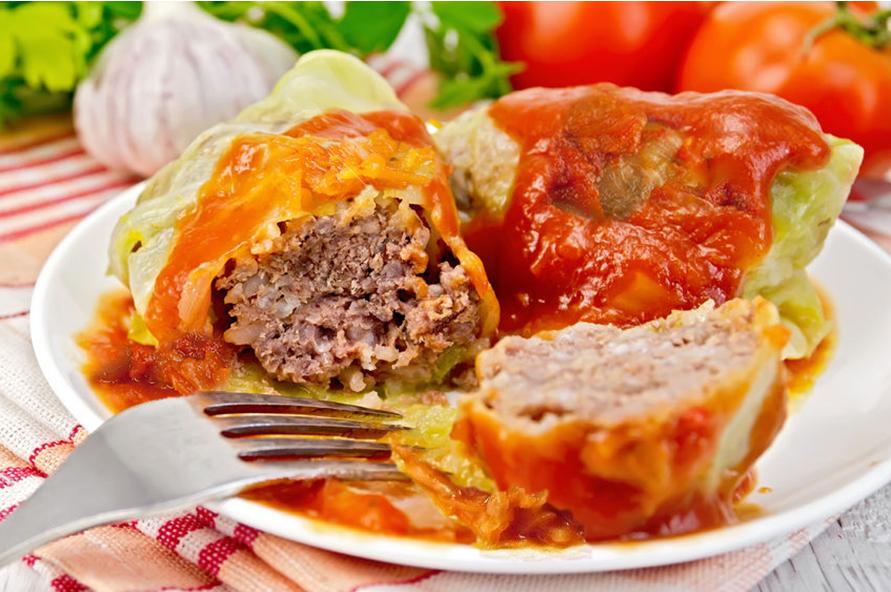 Stuffed Cabbage with Sauerkraut