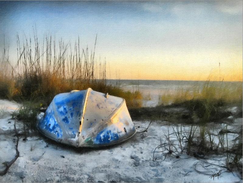 """Lake Michigan Sunset"" by Tom Schmidt, oil, 2012."