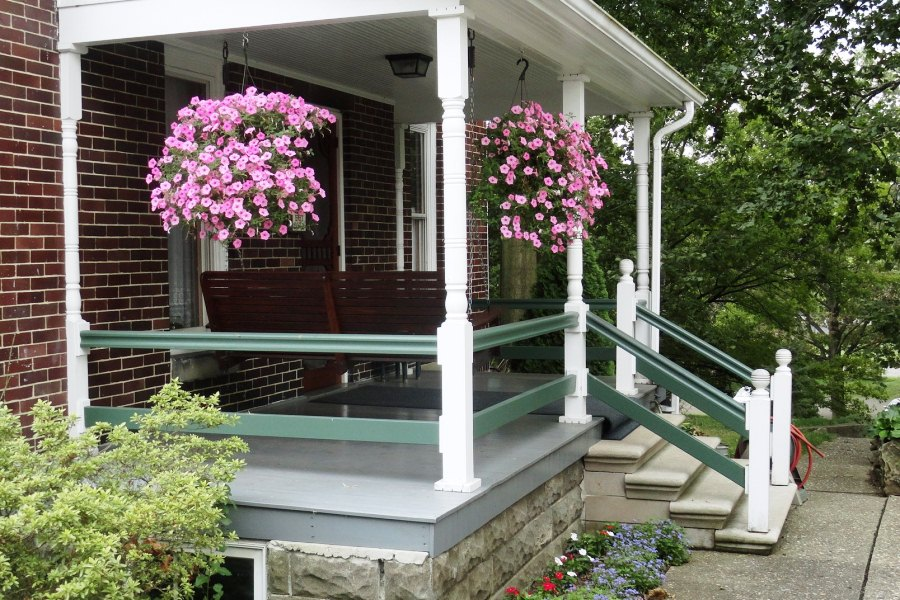 Rear porch with swing. (Photo: Warther Museum)
