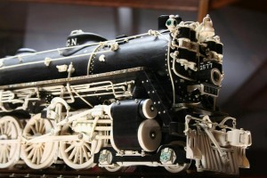 Detail of hand-carved Great Northern steam engine. (Photo: Warther Museum)
