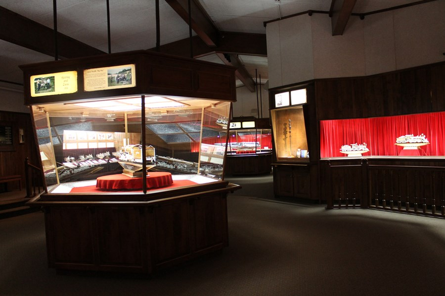Exhibits at the Warther Museum.