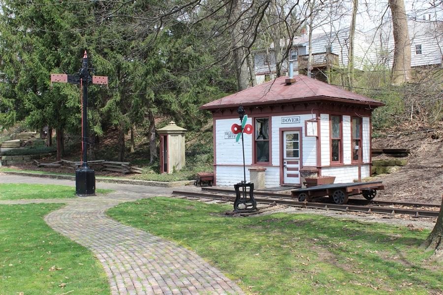 Restored Dover, Ohio telegraph office.