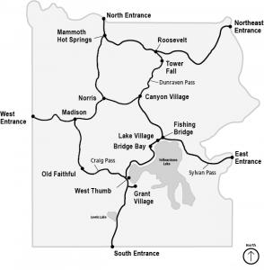 Map of Yellowstone.