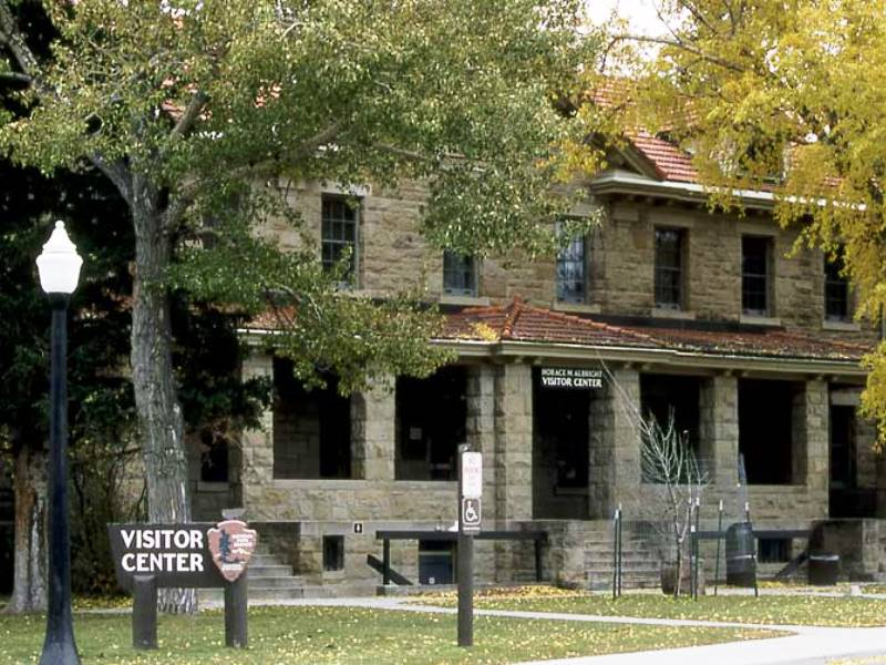 The Albright Visitor Center, built in 1909, was once the U.S. Army's bachelor officers' quarters. (Photo: Jim Peaco)
