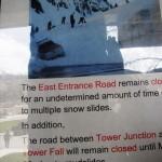 Snowslide at Sylvan Pass.