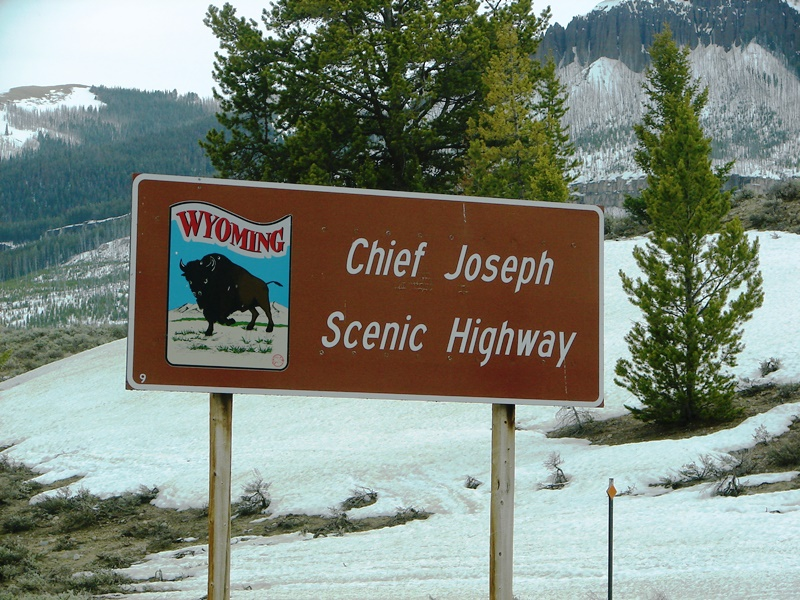 Chief Joseph Scenic Byway sign.