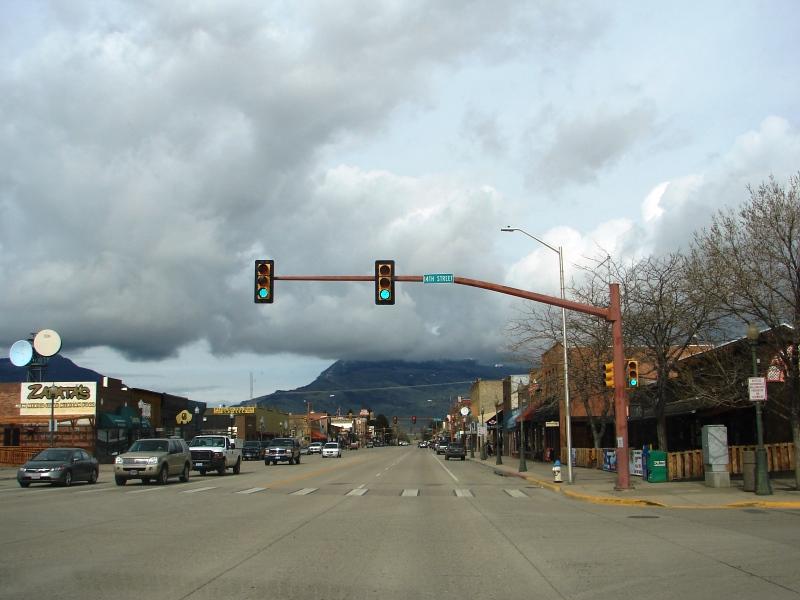 Heart Mountain, shrouded in cloud.