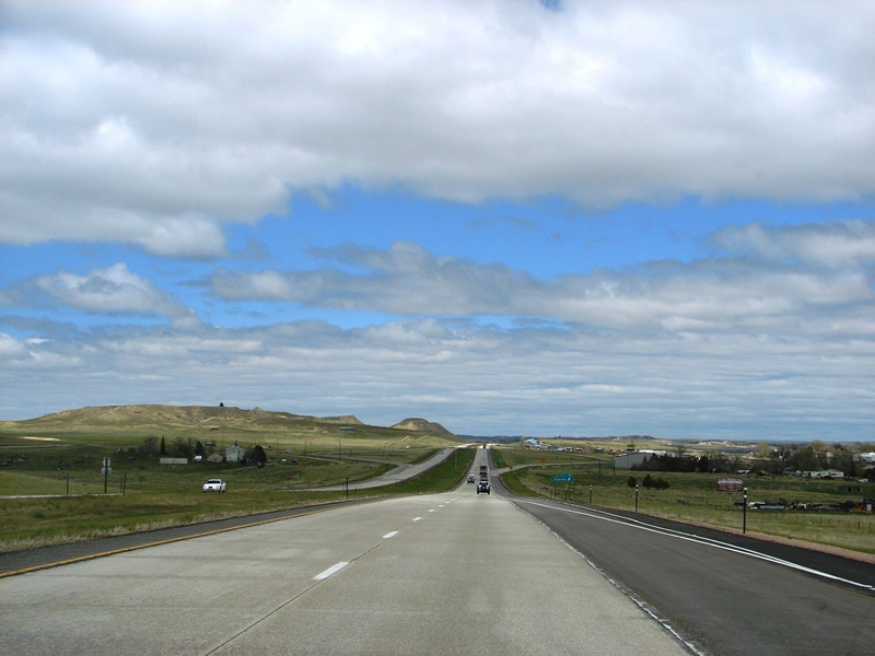 I-25, north of Cheyenne . . . the long, not winding, road.