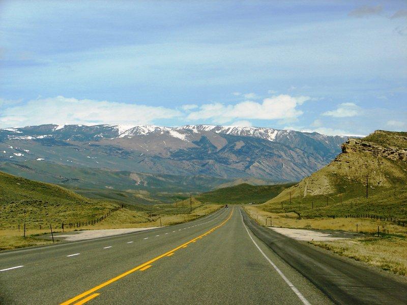 Road in Wyoming.