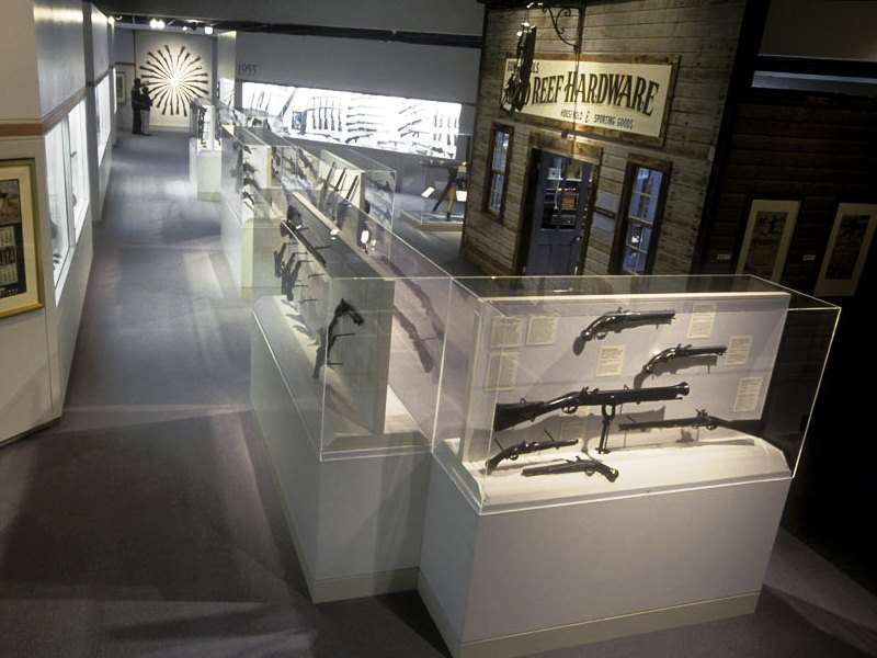 Gallery shot of the Cody Firearms Museum with hardware store exhibit. (Photo: Buffalo Bill Center of the West)
