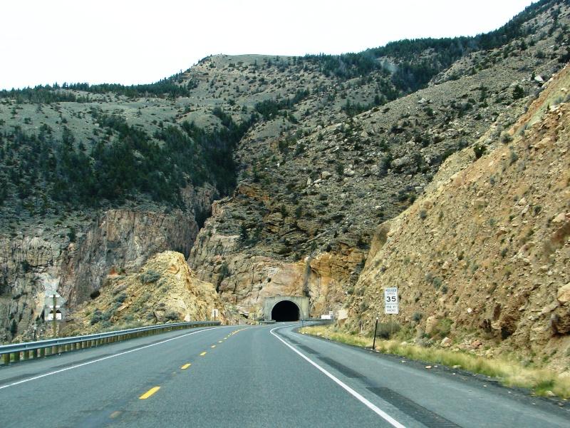 Tunnel through Rattlesnake Mountain.