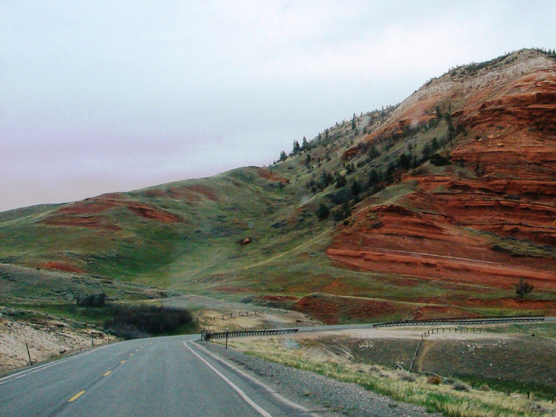 Chugwater Formations along the Chief Joseph Scenic Byway are massive.