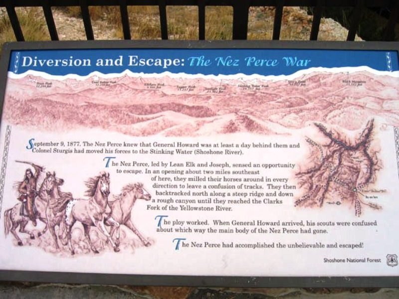 Dead Indian Pass is where the Nez Perce succeeded in shaking their pursuers.