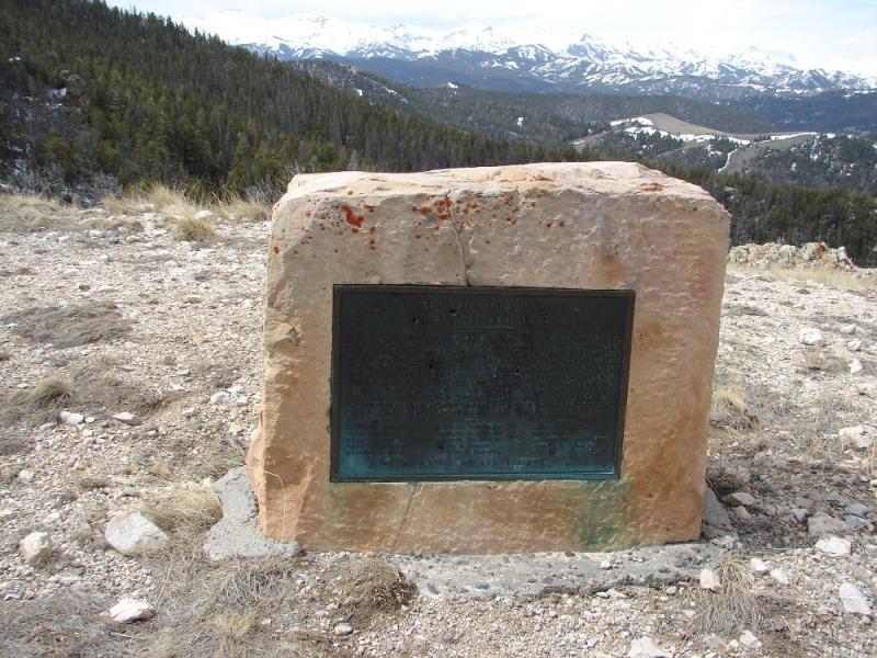 Stone marker at Dean Indian Summit Overlook.