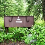 Bear-proof food storage box at Pebble Creek Campground. (Photo: NPS/N. Herbert)