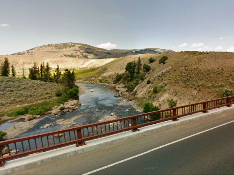 The Lamar River is a tributary of the Yellowstone River and popular spot for fly fishing.