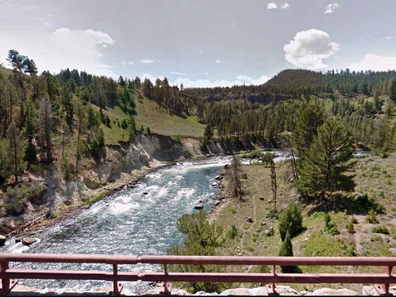Crossing the Yellowstone River.